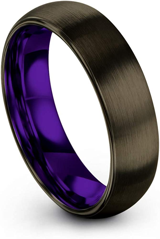 Fashion Chroma Color Collection Tungsten Carbide Wedding f Ring unisex 6mm Band