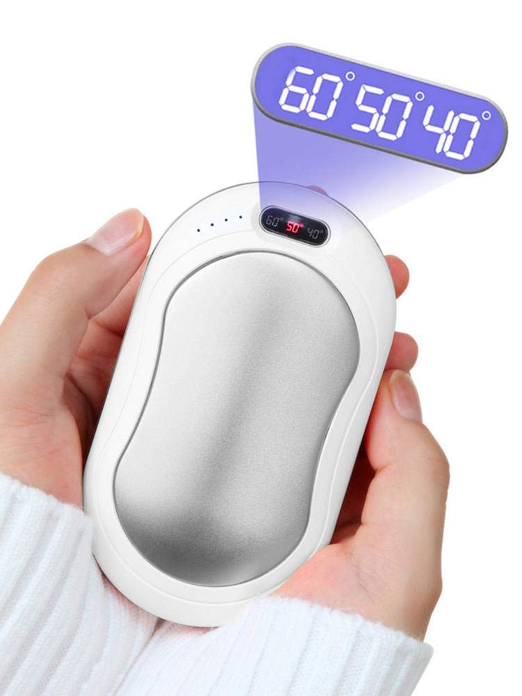 Mobile/Power/Hand/Warmers 3 Levels Tempertaure Display Double-Sided/Heating Heating Hand Protector Intelligent Safe USB Hand Warmers with 10000mAh Treasure with 10000mAh Charging Multiple Colors