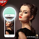 NEW Selfie Ring Light [Chargeable][No Battery required] 36 LED Night Light 3 Settings for iphone 7/7 Plus/6/6s/6 plus/6s Plus iPad,Galaxy S7/S7 Edge,Galaxy S6 Edge/S6,All the Smart Phones-Green