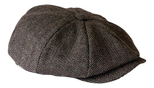 Shelby  Newsboy Grey Herringbone Cloth Cap By Gamble   Gunn  Amazon.co.uk   Clothing c776f09b3bf