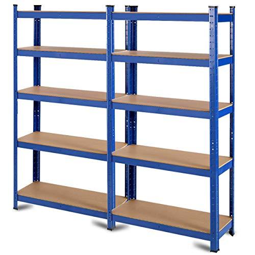 Tangkula Metal Storage Shelves, Heavy Duty Steel ()