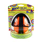 Mack's Double-Up Hearing Protection Kids Earmuffs with Earplugs – Highest NRR 30dB – Comfortable, Adjustable, Foldable Kids Ear Protection for Loud Events, Shooting and Motor Sports (Orange)