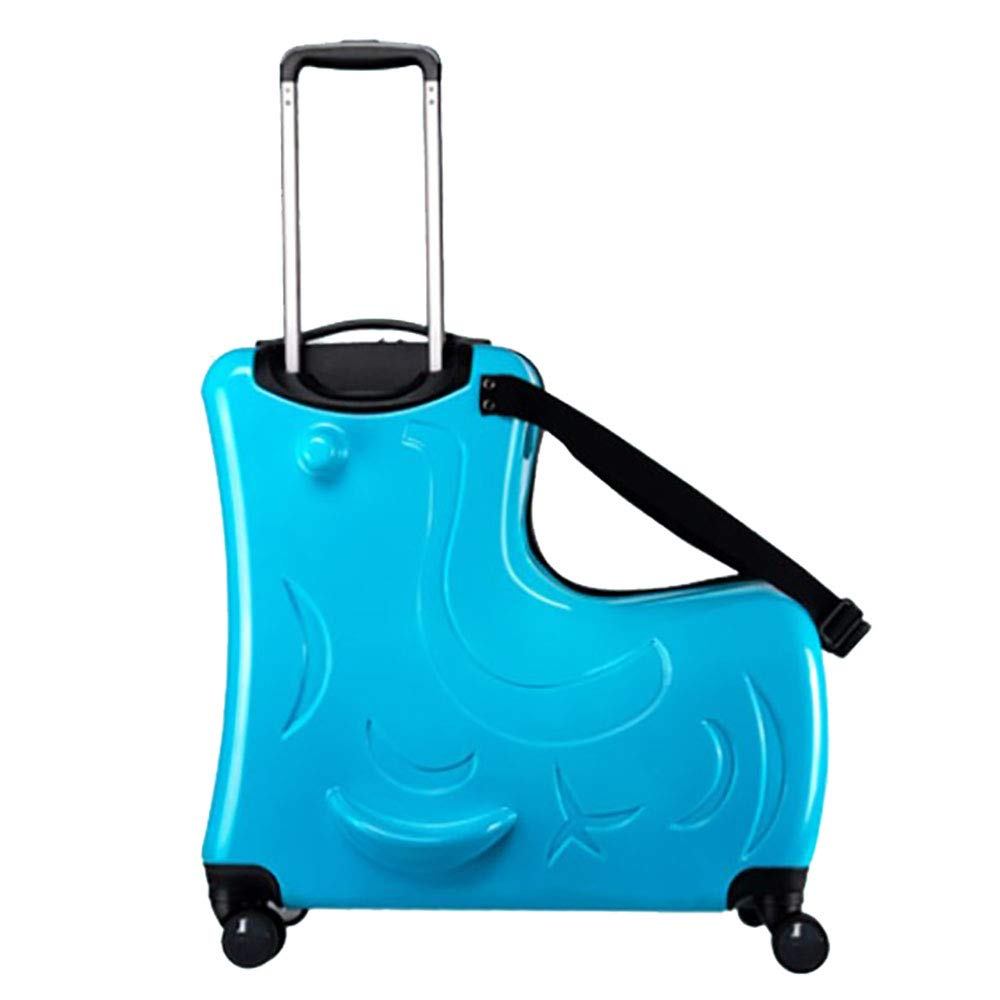 トロリースーツケース子供のスーツケースは、トロリーケースの男性の赤ちゃんのスーツケース女性20インチ青に乗ることができる座ることができます B07KTYZQ9G