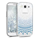 kwmobile Crystal Case Cover for Samsung Galaxy S3 / S3 Neo IMD design and TPU silicone frame with synthetic back - transparent soft Design Indian sun