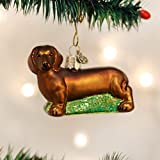 Old World Christmas Dachshund Glass Blown Ornament