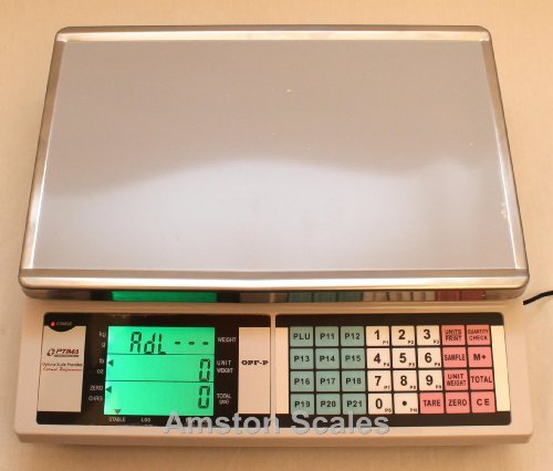 Optima 33 LB x 0.001 LB/15 KG x 0.5 Gram Large (13 x 9 Inch Tray) Counting Scale Coin Parts Inventory Paper Piece ()