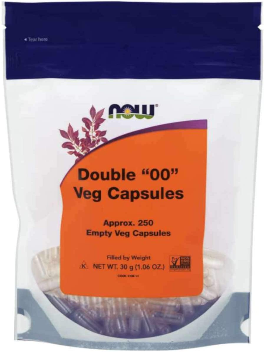 "NOW Supplements, Empty Capsules, Vegetarian, Double ""00"", 250 Veg Capsules"