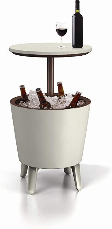 Keter Cool Bar - Mesa nevera para exterior, Blanco, 50x41x50 cm ...