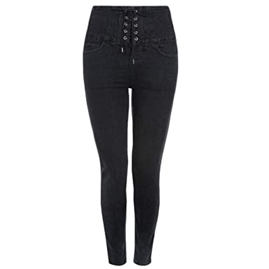 bca611d040ef3 Ex New Look Ex Yazmin Black High Waist Skinny Stretchy Jeans Size 6 8 10 12  16 (UK 6): Amazon.co.uk: Clothing
