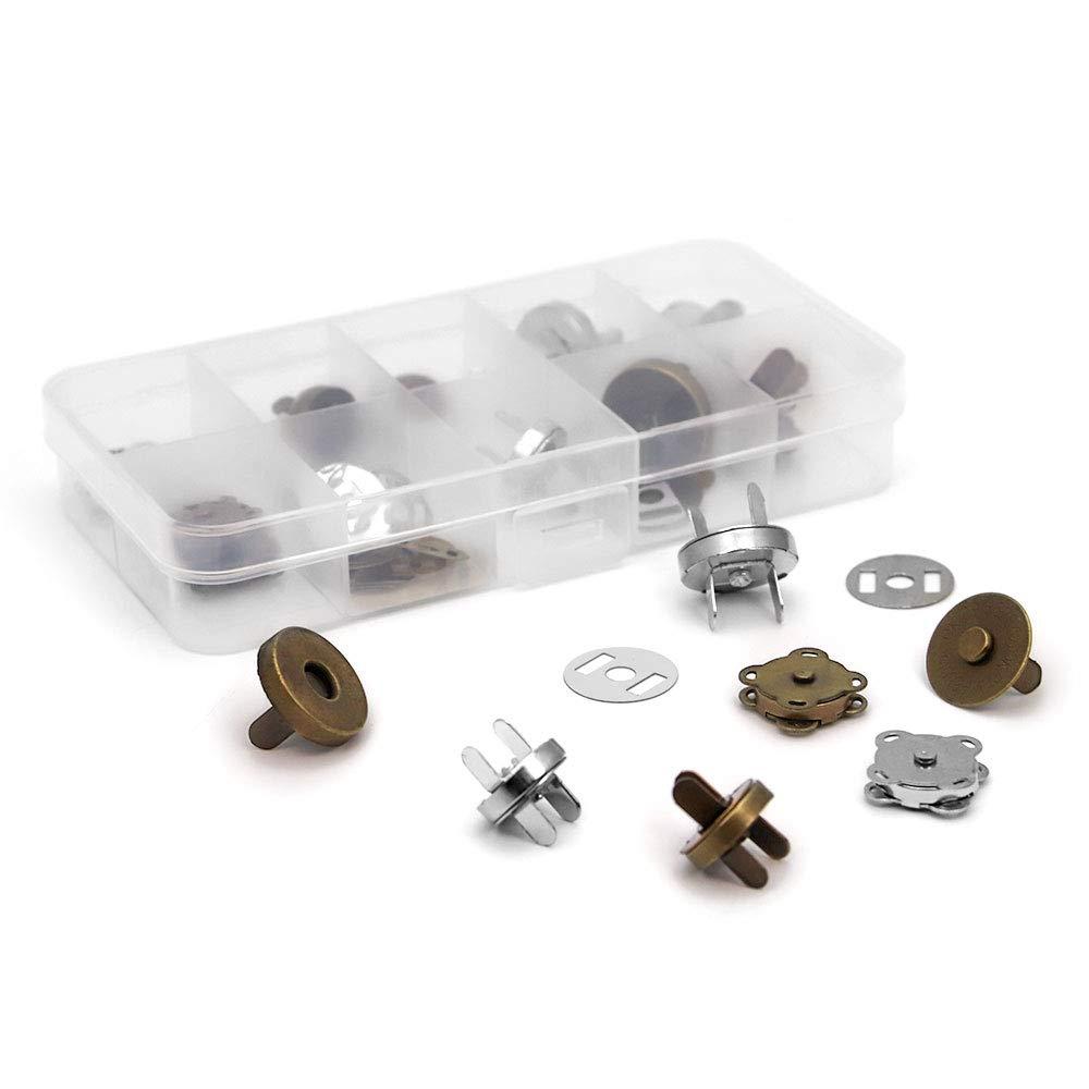 RUBY-10 conjuntos Cierre magn/ético para bolsos 14mm-B