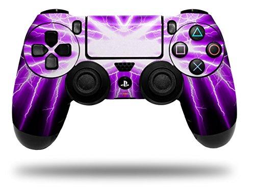 Vinyl Skin Wrap for Sony PS4 Dualshock Controller Lightning Purple (CONTROLLER NOT ()