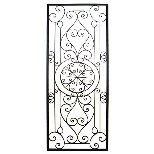 Bellissa Tuscan 64'''' Large Rectangular Iron Wall Grille Plaque by Cheap-Chic Decor