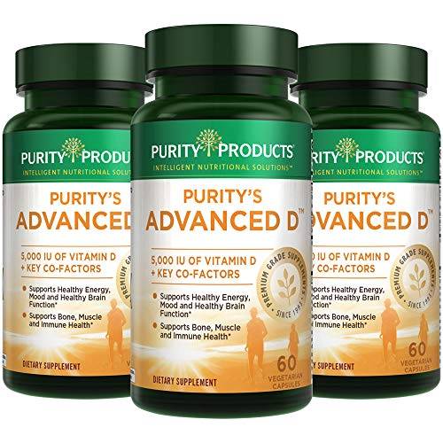 Dr. Cannells Advanced D - Vitamin D Super Formula - Purity Products (3 Pack) - Packed with Vitamin D, Vitamin K2, Zinc, Magnesium Citrate, Boron and Taurine - Purity Products - 60 Vegetarian Capsules