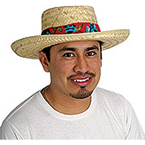 Rubie's Costume Co Straw Hat W-Floral Band Costume]()