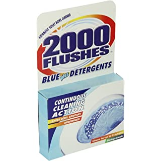 2000 FLUSHES - 201020 2000 Flushes Blue Plus Detergents Automatic Toilet Bowl Cleaner, 3.5 OZ