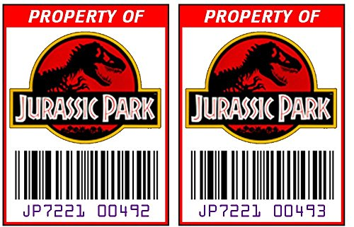 Park Tags (Asset Tag - Property of Jurassic Park)