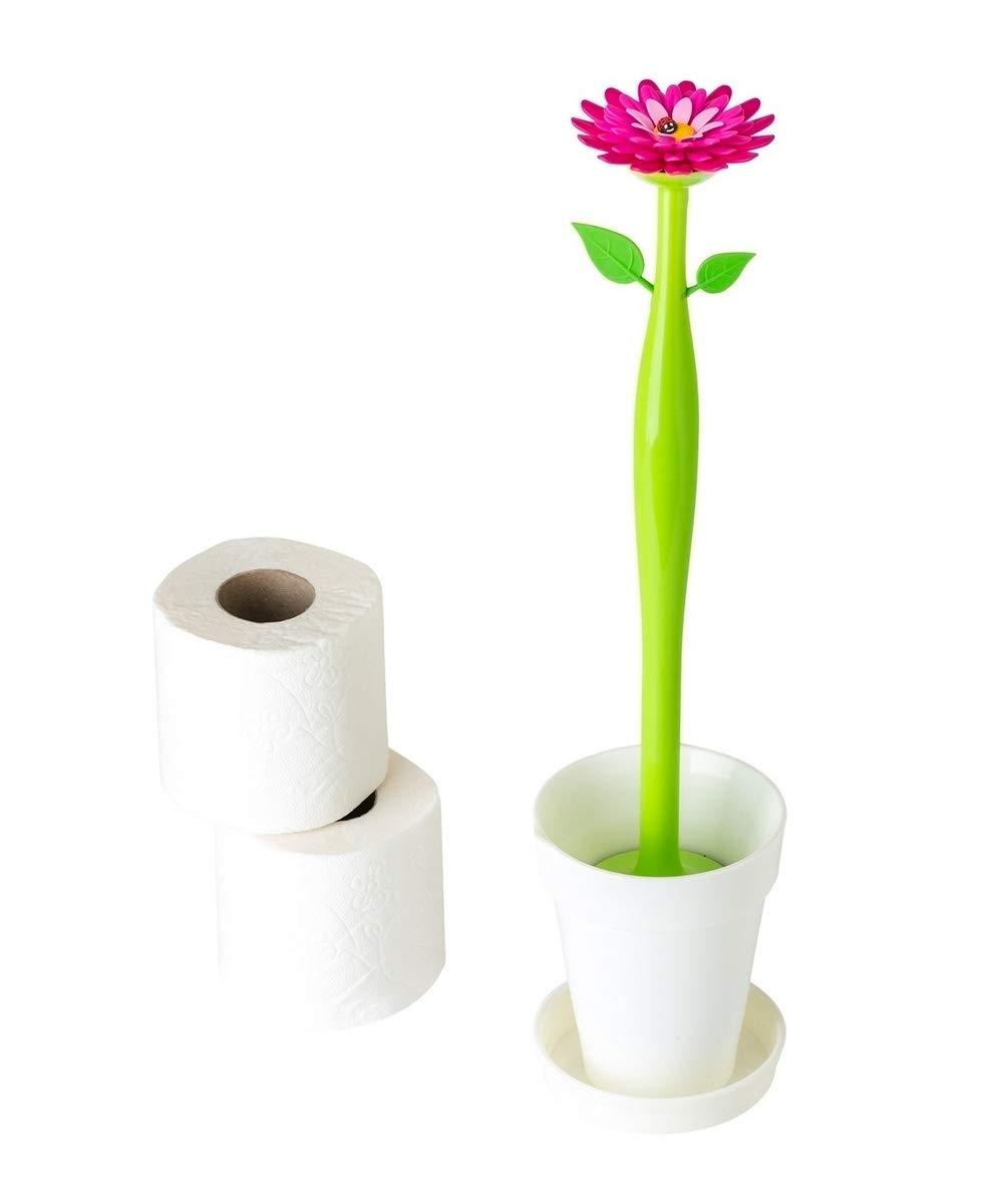 VIGAR Flower Power Brosse WC en Plastique 12/x 12/x 48,5/cm Multicolore