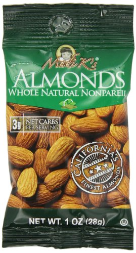 Madi K's Whole Natural Almonds, 1 Ounce Bag (Pack of 48)