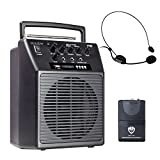 Nady WA-120BT HM Wireless Portable compact P.A full-range speaker system with built-in amplifier, BLUETOOTH, mp3 player, mixer, and headmic wireless microphone with rechargeable battery