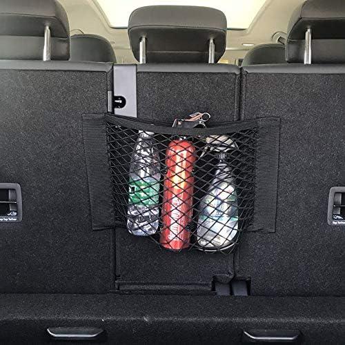 Daimay Kofferraum Organizer Mit Klett 3 Stück Autonetz Universal Netztasche Aufbewahrungskiste Veranstalter Auto Aufbewahrungs Tasche Halterung Schutznetz Aus Nylon Schwarz 25 40cm Küche Haushalt