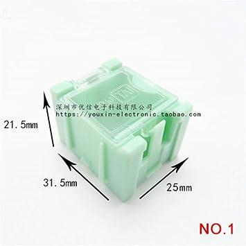 Mini caja de almacenamiento IC para componentes electrónicos, caja de contenedores DIY práctica para pequeños componentes joyería caja de herramientas caja de bolas, verde, 1 unidad: Amazon.es: Bricolaje y herramientas