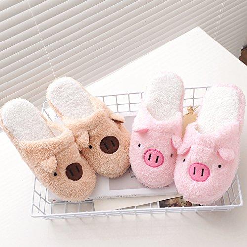 wyhweilong Cute Women's Men's Cotton Anti-slip House Slippers Indoor Slipper Pink Pig iFSCo4L