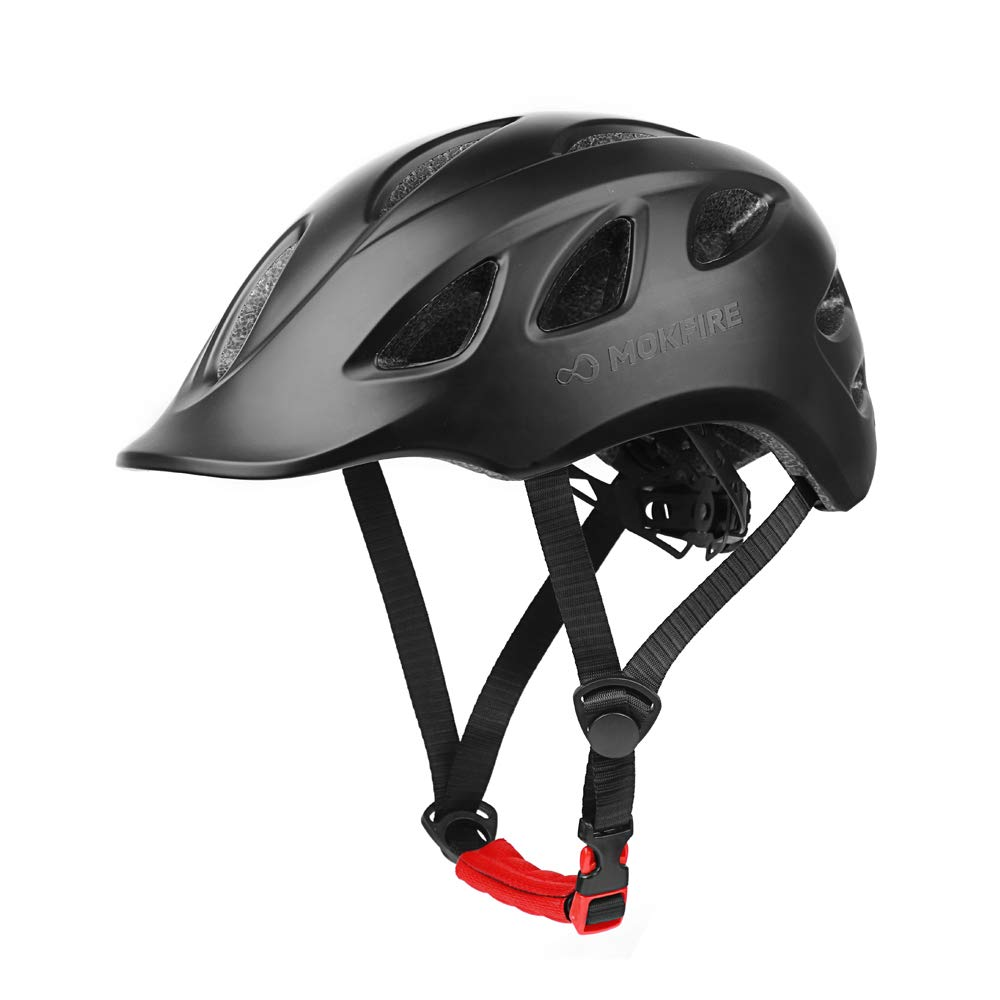 MOKFIRE Adult Bike Helmet Adjustable Lightweight Urban Casual Commuter Cycling Bicycle Helmet for Women and Men – Size 22.44-24.01 Inches