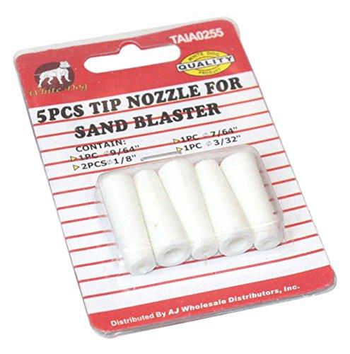 Sandblasting Tip (Pit Bull TAIA0255 Ceramic Sand Blasting Nozzles, 5 Piece)