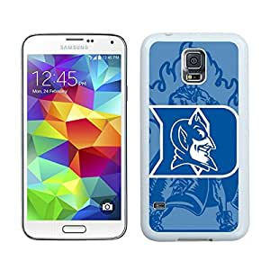 NCAA Atlantic Coast Conference ACC Footballl Duke Blue Devils(1) White Samsung Galaxy S5 Screen Cover Case Newest and Fashion Design
