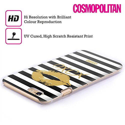 Official Cosmopolitan Gold Kiss Mark Hard Back Case for Apple iPhone 4 / 4S