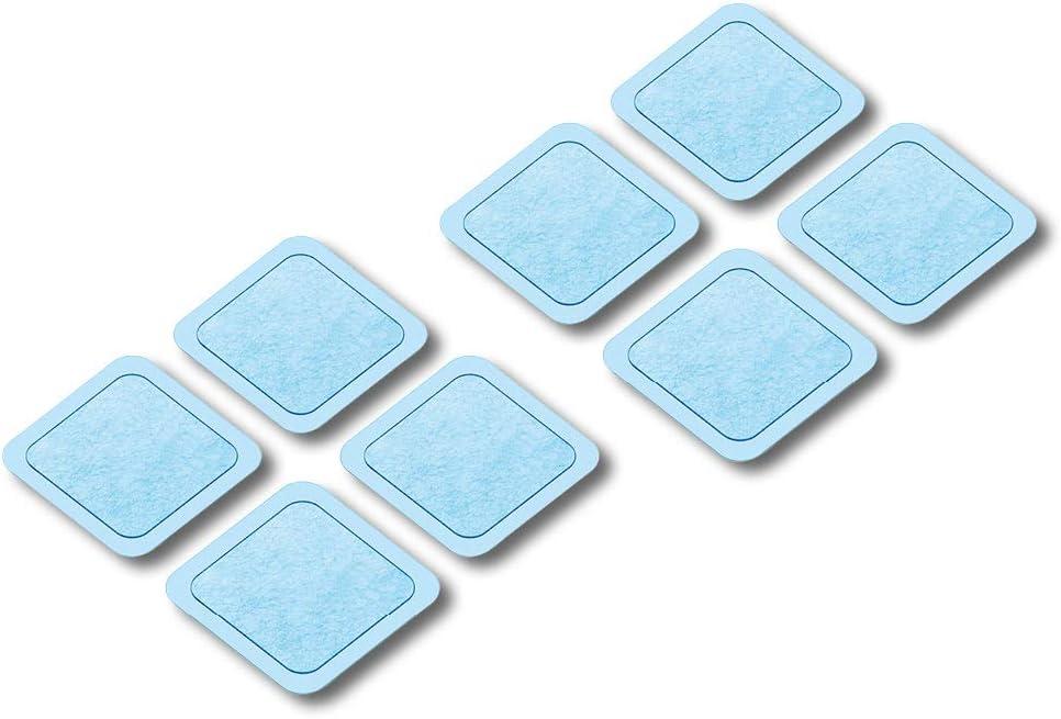 Set recambio Beurer EM 59. Pack 8 electrodos de gel autoadhesivos