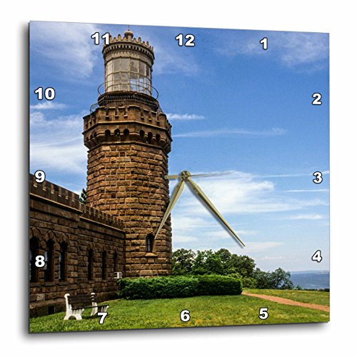 (3dRose USA, New Jersey, Highlands, Twin Lights of Navesink, North Tower. - Wall Clock, 13 by 13-Inch (DPP_208448_2))