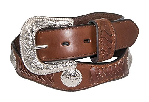 Silver Canyon Men's Leather Scalloped with Lacing and Concho Peanut Brittle (Western Peanut Brittle)