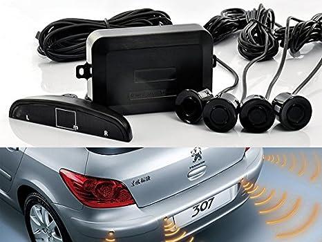 Sound Warning Blue Color EKYLIN Car Auto Vehicle Reverse Backup Radar System with 4 Parking Sensors Distance Detection LED Distance Display