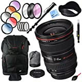 Canon EF 17-40mm F/4 L USM Lens with 77mm Filter Sets Plus Accessories Bundle