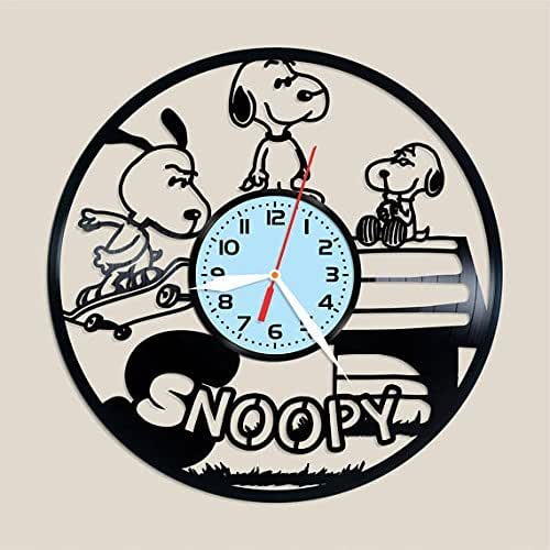 Amazon Com Handmade Vinyl Wall Clock Snoopy Vinyl Clock