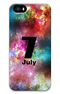 iPhone 5 5S Case 3D Customized Unique Print Design Galaxy Space Jult 7 iPhone 5/5S Cases