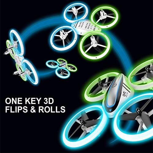 Q9s Drones for Kids,RC Drone with Altitude Hold and Headless Mode,Quadcopter with Blue&Green Light,Propeller Full Protect,2 Batteries and Remote Control,Easy to Fly Kids Gifts Toys for Boys and Girls 51wyOy1WpAL