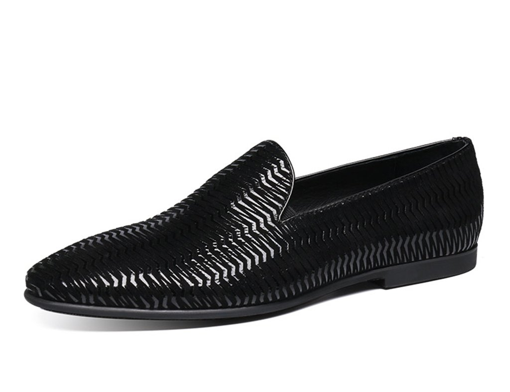 Zapatos Clásicos de Piel para Hombre Zapatos de Cuero de los Hombres Ocasionales de la Marea de la Moda Joven acentuada Estilo británico Solo Zapatos ...