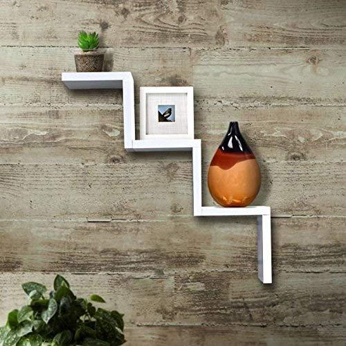 Onlineshoppee W Shape Designer Wall Shelf  White