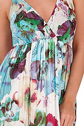 Paisley Pistachio crois femmes Violet t sans longue ou manche Floral imprim Robe Motif aztque d8qwXq4