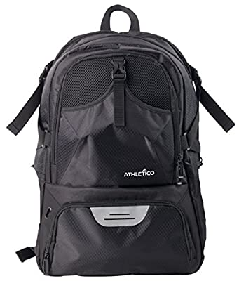 Athletico National Soccer Bag - Backpack Soccer, Basketball & Football Includes Separate Cleat Ball Holder Youth, Kids, Girls, Boys, Men & Women