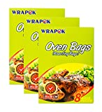 WRAPOK Roasting Cooking Bags Turkey Oven Chicken Bag For Meat Poultry Fish Seafood Vegetable, Small - 24 Bags (10 x 15 Inch)