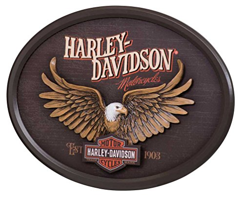 Harley-Davidson Sculpted Eagle Oval 3D Pub Sign, 22 x 16 inches HDL-15317