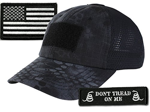 (Operator Cap Bundle - w USA/Dont Tread Patches (Typhoon Cap - Mesh))