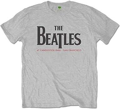 The Beatles Candlestick Park (Back Print) Camiseta, Gris ...