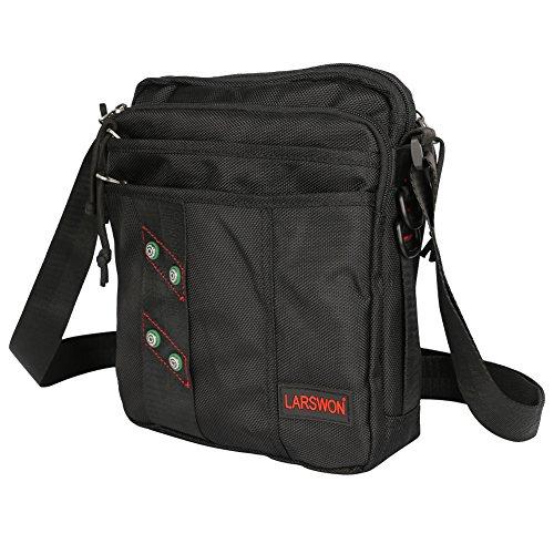 Vertical Messenger Bag, Shoulder Bag, Larswon Crossbody Bag iPad Bag Satchel for Men Women (Vertical Mens Bag)