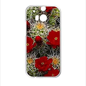 Beautiful Cactus Flower Design Desert Cactus Sunset HTC One M8 (Laser Technology) Case, Cell Phone Cover
