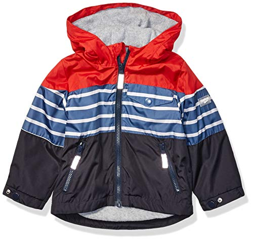 Osh Kosh Boys' Little Midweight Jersey Lined Jacket, Red Blue Color Block, 5/6