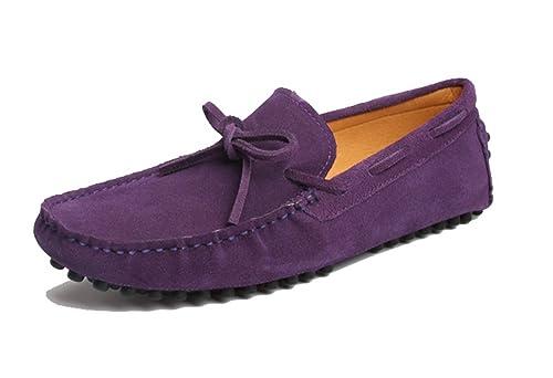 MGM-Joymod - Zapatilla Baja de Ante Hombre, Color Morado, Talla 47: Amazon.es: Zapatos y complementos